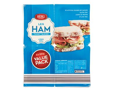 Berg Sliced Leg Ham 4 x 100g