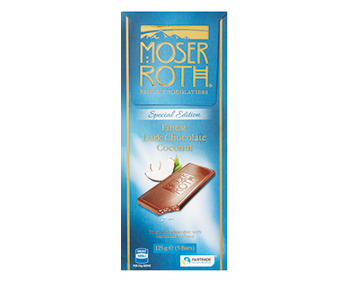 Moser Roth Chocolate Bars Dark Coconut 125g