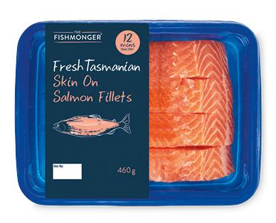 Fishmonger Fresh Tasmanian Salmon Fillets Skin On