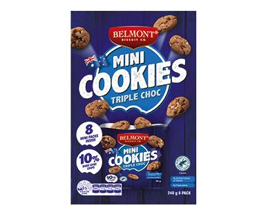 Belmont Biscuit Co. Mini Triple Choc Chip Cookies 8pk/240g