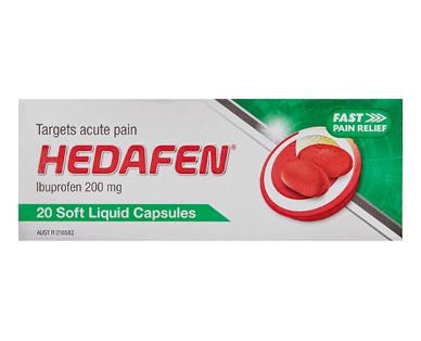 Hedafen Ibuprofen Liquid Gel Capsules 20pk