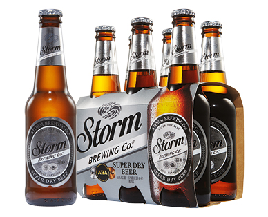 Storm Brewing Co. Super Dry Beer 6 x 330ml