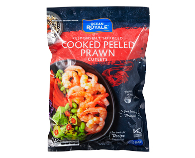 Ocean Royale Cooked Prawn Cutlets 500g
