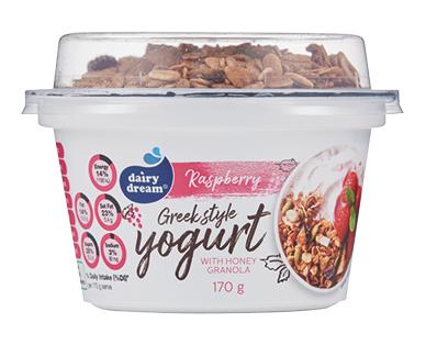 Dairy Dream Raspberry Greek Style Yogurt with Honey Granola 170g