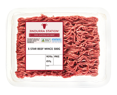 Jindurra Station 5 Star Beef Mince 500g