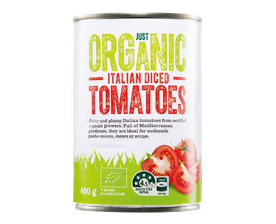 Just Organic Diced Tomatoes 400g