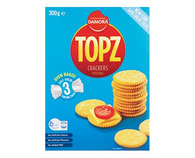 Damora Satisfied Snacking Topz Crackers 300g