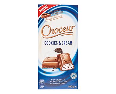 Choceur Cookies & Cream Chocolate Block 180g