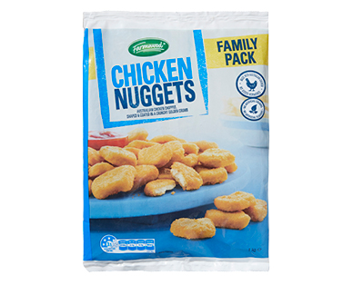 Farmwood Chicken Nuggets Crumbed 1kg