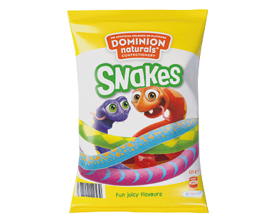Dominion Naturals Snakes or Party Mix 225g