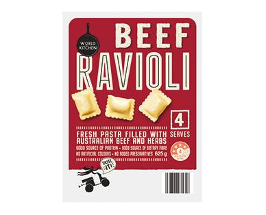 World Kitchen Beef Ravioli 625g