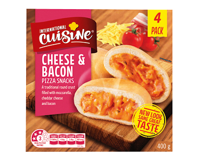 International Cuisine Cheese and Bacon Pizza Snacks 400g