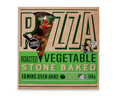 World Kitchen Roasted Vegetable Pizza 510g