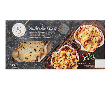 Specially Selected Scallop & Champagne Gratin 2pk/200g