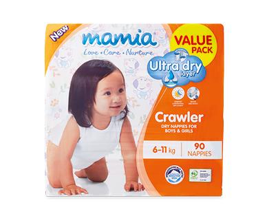 Mamia Unisex Crawler Nappies 6-11kg 90pk