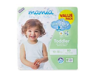 Mamia Unisex Toddler Nappies 10-15kg 80pk