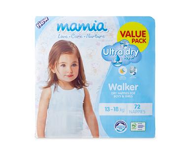Mamia Unisex Walker Nappies 13-18kg, 72pk