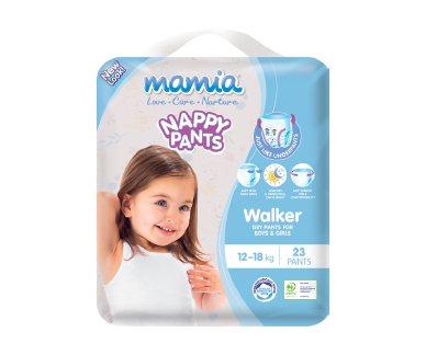 Mamia Unisex Nappy Pants Walker 12-18kg 23pk