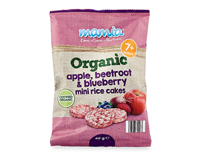 Mamia Organic Beetroot & Blueberry Mini Rice Cakes 40g