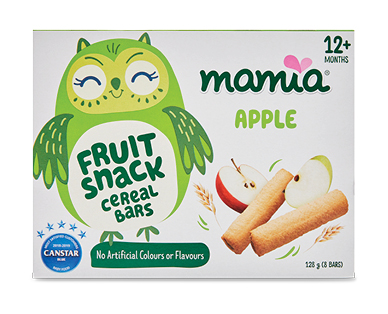 Mamia Fruit Snack Cereal Bars Apple 12+ months 8pk 128g