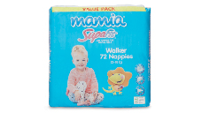 Mamia Unisex Walker Nappies 13-18kg, 72pk