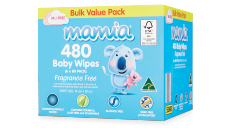 Mamia Baby Wipes 480pk Fragance free