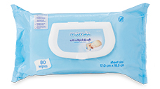 Mamia Baby Wipes Embossed Fragrance Free 80pk