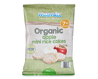 Mamia Organic Apple Mini Rice Cakes 40g