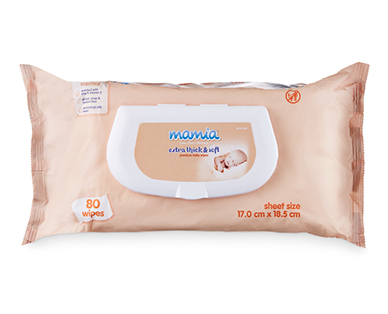 Mamia Baby Wipes Embossed Scented 80pk