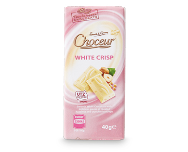 White Crisp Mini Chocolate Bars 5 x 40g