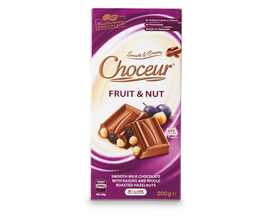 Choceur Fruit & Nut Block Chocolate 200g