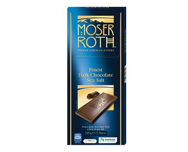 Moser Roth Dark Sea Salt Chocolate Block 125g