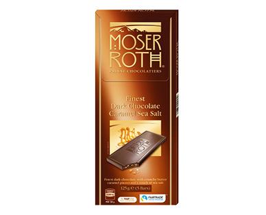 Moser Roth Dark Sea Salt Caramel Chocolate Block 125g