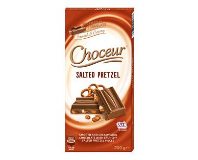 Choceur Salted Pretzel Chocolate Block 200g