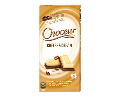 Choceur Coffee & Cream Chocolate Block 200g