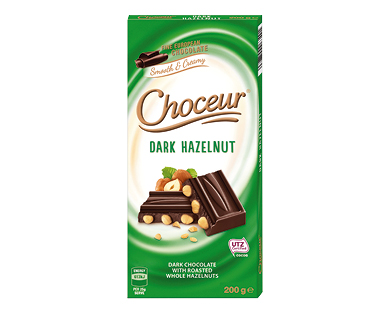 Choceur Dark Hazelnut Chocolate Block 200g
