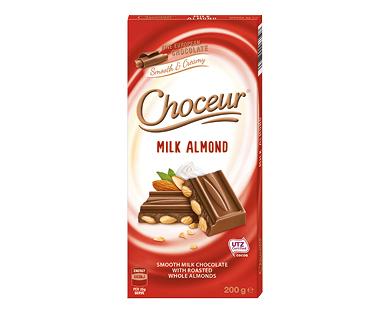 Choceur Milk Almond Chocolate Block 200g