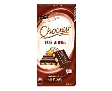 Choceur Dark Almond Chocolate Block 200g