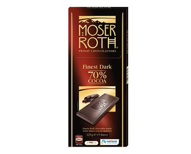 Moser Roth Dark 70% Chocolate Block 125g