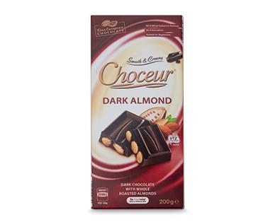 Choceur Dark Almond Block Chocolate 200g
