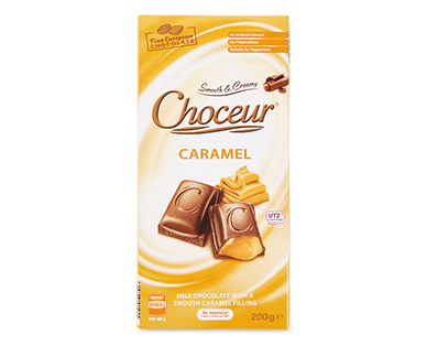 Choceur Caramel Filled Milk Chocolate Block 200g
