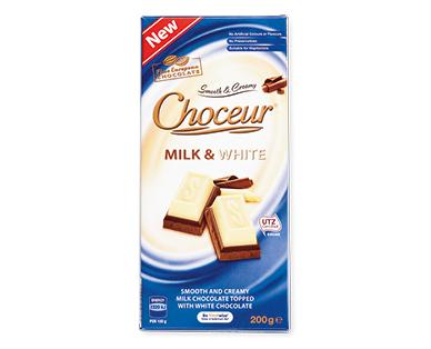 Choceur Milk & White Chocolate Block 200g