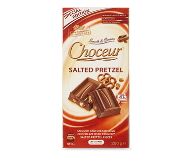Choceur Salted Pretzel Chocolate Block 200g