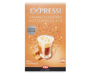 Expressi Caramel Flavoured Hot Chocolate 16pk