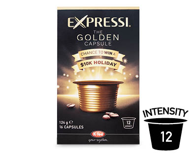 Expressi Golden Capsule Coffee Capsules - Limited Edition