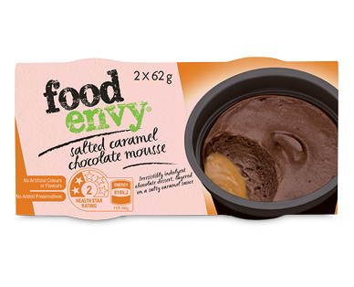 Food Envy Chocolate Mousse with Salted Caramel 2 x 62g