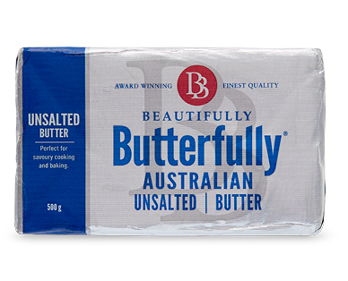 Beautifully Butterfully Unsalted Butter 500g