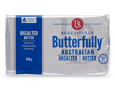 Beautifully Butterfully Unsalted Butter 250g