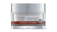LACURA® Naturals Anti-Aging Night Cream with Rice Bran Oil & Silk Protein 50ml
