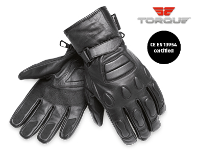 Padded Leather Motorcycle Gloves